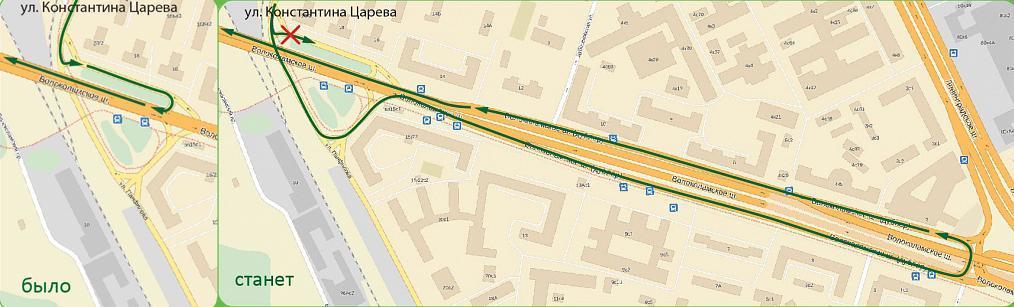 Схема развязка на волоколамском шоссе и панфилова схема